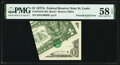 Foldover Error Fr. 1910-H $1 1977A Federal Reserve Note. PMG Choice About Unc 58 EPQ