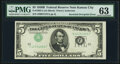 Error Notes:Inverted Third Printings, Inverted Third Printing Error Fr. 1963-J $5 1950B Federal Reserve Note. PMG Choice Uncirculated 63.. ...