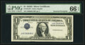 Inverted Third Printing Error Fr. 1613N $1 1935D Narrow Silver Certificate. PMG Gem Uncirculated 66 EPQ