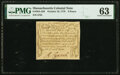 Colonial Notes:Massachusetts, Massachusetts October 16, 1778 8 Pence Fr. MA-258 PMG Choice Uncirculated 63.. ...