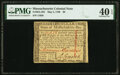 Colonial Notes:Massachusetts, Massachusetts May 5, 1780 $8 Fr. MA-284 PMG Extremely Fine 40 EPQ.. ...