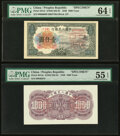 World Currency, China People's Bank of China 1000 Yuan 1949 Pick 847sf; 847sb Front and Back Specimen PMG Choice Uncirculated 64 EPQ; Abou... (Total: 2 notes)