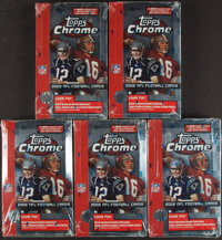 2002 Topps Chrome Football Unopened Hobby Box Lot of 5 - Tom Brady First Topps Chrome Card!