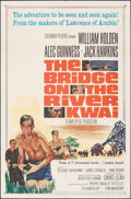 "Movie Posters:War, The Bridge on the River Kwai (Columbia, R-1963). Folded, Very Fine-. One Sheet (27"" X 41""). War.. ..."