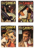 Pulps:Adventure, Doc Savage Group of 4 (Street & Smith, 1935) Condition: Average VG/FN.... (Total: 4 Items)