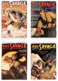 Pulps:Adventure, Doc Savage Group of 4 (Street & Smith, 1936) Condition: Average FN-.... (Total: 4 Items)