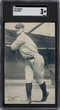 Baseball Cards:Singles (Pre-1930), 1925 Exhibits Lou Gehrig SGC VG 3 - His Rookie Card Debut! ...
