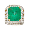 Estate Jewelry:Rings, Emerald, Diamond, Gold Ring, French The ring f...
