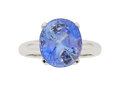 Estate Jewelry:Rings, Sapphire, White Gold Ring. ...