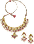 Estate Jewelry:Suites, Diamond, Ruby, Cultured Pearl, Gold Jewelry Suite. ... (Total: 2 Items)
