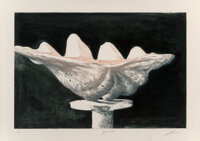 Julio Larraz (b. 1944) Giant Clam, 1989 Etching and aquatint in colors on wove paper 29-3/4 x 41