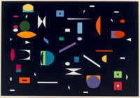 Yaacov Agam (b. 1928) Untitled, late 20th century Screenprint in colors on wove paper 24-1/2 x 35