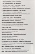 Prints & Multiples, Jenny Holzer (b. 1950). 8 Truisms, 1977-79. Offset prints on paper. 34-3/4 x 22-7/8 inches (88.3 x 58.1 cm) (sheet). ... (Total: 8 Items)