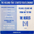 "Music Memorabilia:Memorabilia, The Beatles Mega Rare Promo Copy Picture Sleeve ""The Record That Started Beatlemania"" (VJ-581) ""Please Please Me/From Me To Y..."