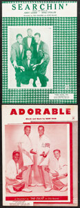 """Movie Posters:Rock and Roll, The Coasters & Other Lot (1955-58). Very Fine-. Sheet Music (4) (Multiple Pages, 9"""" X 12""""). Rock and Roll.. ... (Total: 4 Items)"""