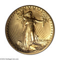 High Relief Double Eagles: , 1907 $20 High Relief, Flat Rim MS65 PCGS. The story of ...