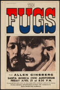 """Movie Posters:Rock and Roll, The Fugs at Santa Monica Civic Auditorium (1967). Very Fine-. Concert Handbill (6"""" X 9"""") Joel Brodsky Photography. Rock and ..."""
