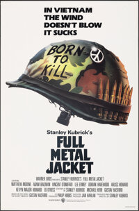 "Full Metal Jacket (Warner Bros., 1987). Rolled, Very Fine+. One Sheet (27"" X 41"") SS Advance. Philip Castle Ar..."