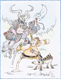 Sergio Aragones Groo the Wanderer Artist Edition (Blue Slipcase Edition) with Original Art Cover Illustration (IDW