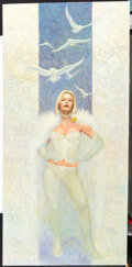 """Original Comic Art:Paintings, Frank Cho - """"The Ice Queen"""" Emma Frost Painting Original Art (2015)...."""