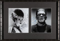 Movie Posters:Horror, Elsa Lanchester and Boris Karloff The Bride of Frankenstein (1960s). Very Fine+. Framed and Matted Autographed Restrike Phot...