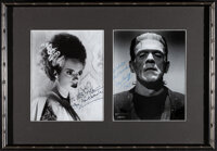 Elsa Lanchester and Boris Karloff The Bride of Frankenstein (1960s). Very Fine+. Framed and Matted Autographed Restrike...