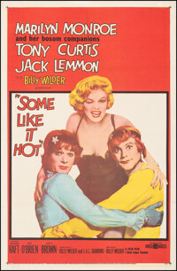 """Some Like It Hot (United Artists, 1959). Fine+ on Linen. One Sheet (27"""" X 41""""). Comedy"""