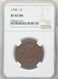 Large Cents, 1798 1C Second Hair Style XF45 NGC. NGC Census: (56/88). PCGS Population: (34/74). CDN: $2,200 Whsle. Bid for NGC/PCGS XF45...