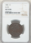 Large Cents, 1806 1C S-270, B-1, R.1, AU53 NGC. NGC Census: (6/13). PCGS Population: (2/10). CDN: $2,500 Whsle. Bid for NGC/PCGS AU53. ...