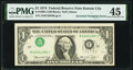 Error Notes:Inverted Third Printings, Inverted Third Printing Error Fr. 1908-J $1 1974 Federal Reserve Note. PMG Choice Extremely Fine 45.. ...