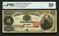 Large Size:Treasury Notes, Fr. 357 $2 1891 Treasury Note PMG Very Fine 20.. ...