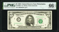 Small Size:Federal Reserve Notes, Fr. 1969-C* $5 1969 Federal Reserve Note. PMG Gem Uncirculated 66 EPQ.. ...