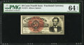 Fractional Currency:Fourth Issue, Fr. 1374 50¢ Fourth Issue Lincoln PMG Choice Uncirculated 64 EPQ.. ...