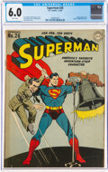 Golden Age (1938-1955):Superhero, Superman #26 (DC, 1944) CGC FN 6.0 White pages....
