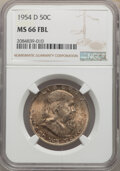 Franklin Half Dollars, 1954-D 50C MS66 Full Bell Lines NGC. NGC Census: (45/3). PCGS Population: (228/4). CDN: $450 Whsle. Bid for NGC/PCGS MS66. ...