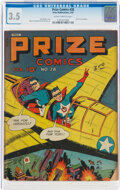 Golden Age (1938-1955):Superhero, Prize Comics #28 (Prize, 1943) CGC VG- 3.5 Slightly brittle pages....
