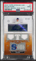 Baseball Cards:Singles (1970-Now), 2009 Topps Sterling Career Chronicles Relics Autograph Nolan Ryan #7 PSA Mint 9....