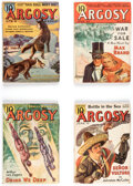 Pulps:Adventure, Argosy Group of 8 (Munsey, 1937-39) Condition: Average FN-.... (Total: 8 Items)