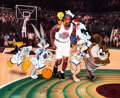 """Animation Art:Limited Edition Cel, """"Space Jam"""" Tune Squad Limited Edition Cel Signed by Micha..."""
