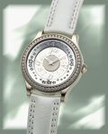 """Timepieces:Wristwatch, Jaeger-LeCoultre, Master Collection """"Twinkling Diamonds"""", 18k White Gold, Limited Edition No. 12/100, circa 2000's. ..."""