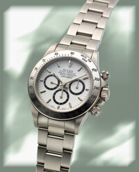 """Rolex, Cosmograph """"Zenith"""" Daytona, """"Inverted Six"""" Dial, Stainless Steel, Ref. 16520, circa 1990"""