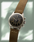 Timepieces:Wristwatch, Gallet, Rare MultiChron 30 Chronograph, Clamshell Case, circa 1940's . ...