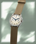 Timepieces:Wristwatch, Aristo, Choice Mint Conditioned Vintage Steel Chronograph,...
