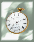 Timepieces:Wristwatch, Vacheron Constantin, Extremely Rare and Early Pivoted Detent Pocket Chronometer, Triple Signed, 18k Gold Open Faced Case, circ...