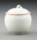 Ceramics & Porcelain, A Chinese Qingbai Covered Jar. 2-3/8 x 2-1/2 inches (6.0 x 6.4 cm). ...