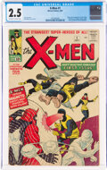 Silver Age (1956-1969):Superhero, X-Men #1 (Marvel, 1963) CGC GD+ 2.5 Off-white to white pages....