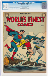 World's Finest Comics #38 (DC, 1949) CGC VF 8.0 Off-white to white pages