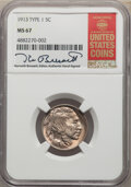 Buffalo Nickels, 1913 5C Type One MS67 NGC. This NGC insert is hand-signed by longtime Guide Book editor Kenneth Bressett. NGC Census: (339/...