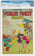 Silver Age (1956-1969):Superhero, World's Finest Comics #61 (DC, 1952) CGC VG/FN 5.0 Cream to off-white pages....