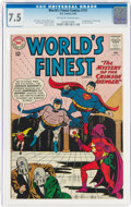 Silver Age (1956-1969):Superhero, World's Finest Comics #131 (DC, 1963) CGC VF- 7.5 Off-white to white pages....